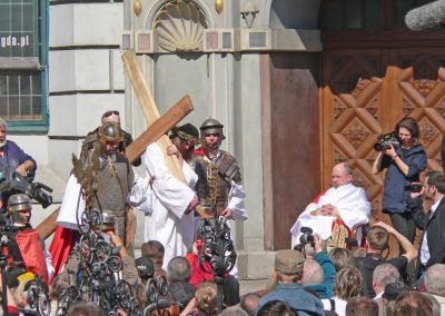 Scene from Passion Play in Old Town of Gdansk