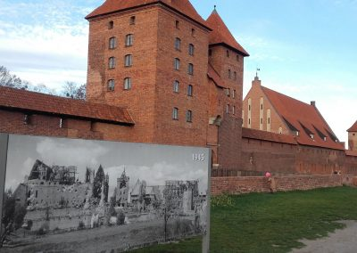 Malbork Castle before and after
