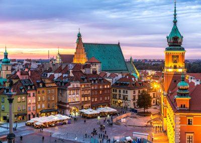 Warsaw-Royal-Castle-at-Night